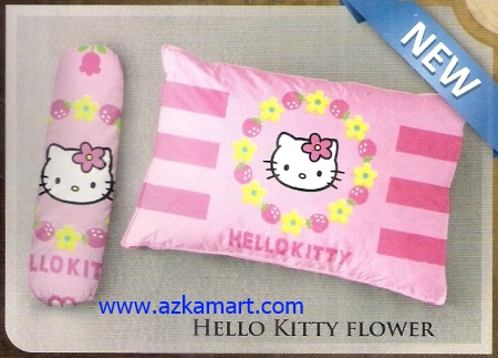 grosir bantal selimut Balmut Ilona Hello Kitty Flower