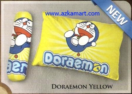 toko bantal selimut Balmut Ilona Doraemon Yellow