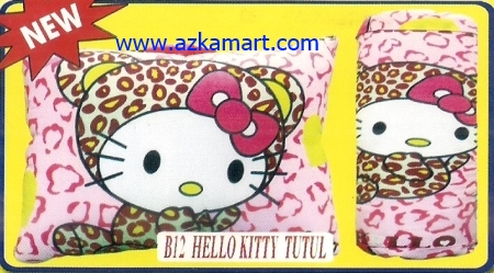 grosir murah selimut bantal Balmut Hello Kitty tutul