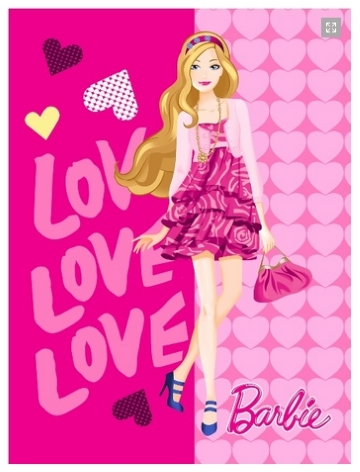15 Selimut Rosanna Panel Barbie Love