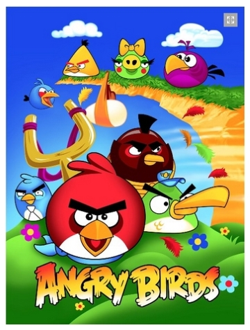 20 Selimut Rosanna Panel New Angry Birds