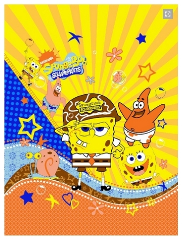 jual beli grosir Selimut Rosanna Panel spongebob 2