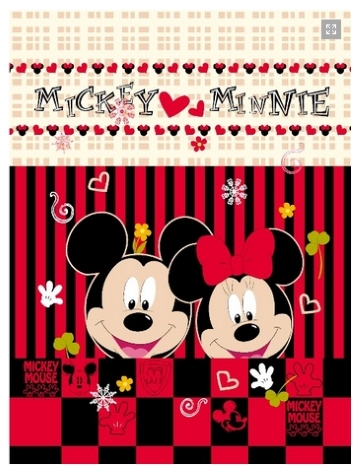 27 Selimut Rosanna Panel mickey minnie