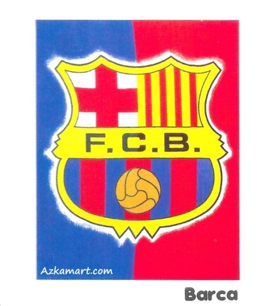 Selimut Bulu Internal Motif Bola barcelona
