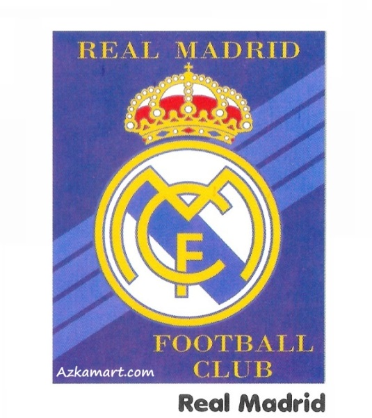 Selimut Bulu Internal Motif Bola real madrid